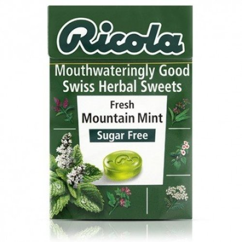 Ricola Sugar Free Mountain Mint Swiss Herbal Sweets - 45g