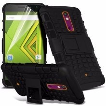 Itronixs - Sony Xperia Z3 Compact Rugged Heavy Duty Armour Shock Proof Hard Stand Case Cover with Lcd Screen Protector