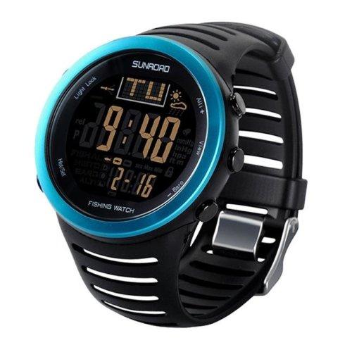 Sunroad FR721A Blue Fishing Barometer Digital Watch, Blue