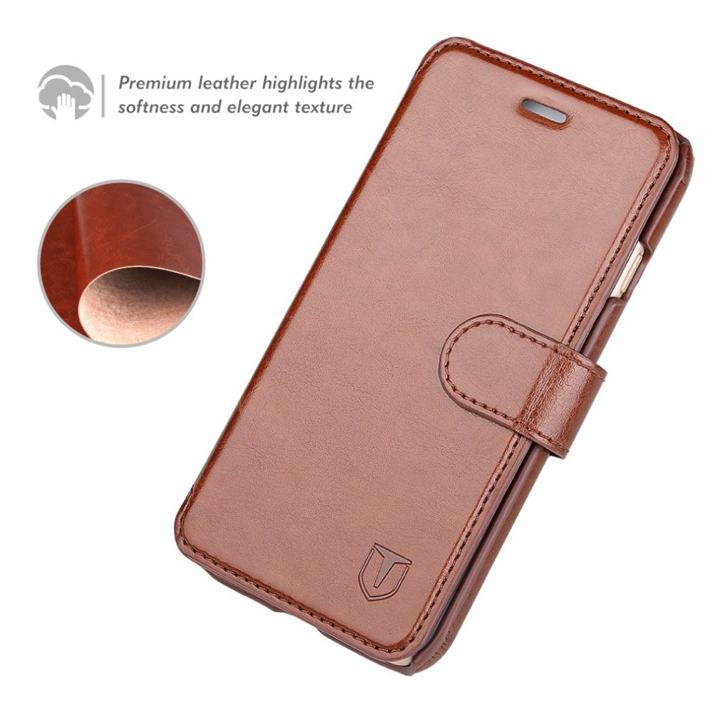 san francisco d3629 d0944 TANNC iPhone 8 Plus Wallet Case, iPhone 7 Plus Case, Flip Leather Phone  Case [Screen Protector Included] [Slim Fit] - [Card Slot] [Kickstand] -...