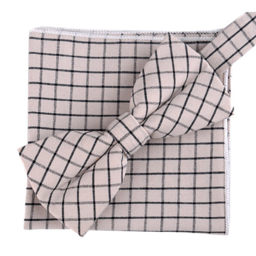 Fashion Casual Bow Tie Pocket Square Business Necktie Pocket Cloth NO.14