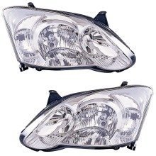 Toyota Corolla 2004-2007 Headlights Headlamps 1 Pair O/s & N/s