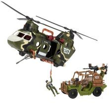 True Heroes Sentinel 1 Playset - Freedom Force Helicopter