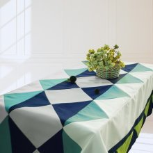 [Puzzle] Handmade Tablecloth Durable Canvas Table Cover, 180*140 cm