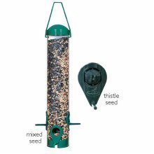 Perky Pet Green 2-in-1 Wild Bird Feeder