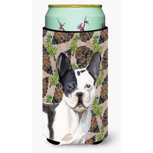Carolines Treasures BB9582TBC Black White French Bulldog Pine Cones Tall Boy Beverage Insulator Hugger