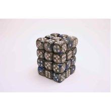 Chessex Gemini 12mm D6 Block - Blue-Steel/white