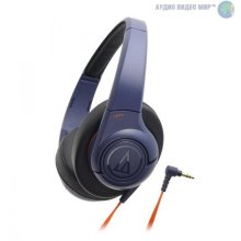 Audio-Technica ATH-AX3iSNV Navy Over-ear Headphones for Smartphones