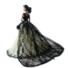 High-end Handmade Wedding Costume Luxurious Party Gown Dresses Princess Clothes for Dolls, K