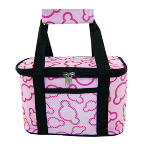 Outdoor Picnic Bag  Large Soft Cooler Insulated Picnic Lunch  Bag for Grocery, Camping, Car, #K