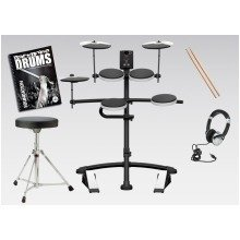 Roland TD-1K Electronic Drum Kit V-Drums Includes Stool, Sticks, Headphones And FREE Backbone Tutorial Book & CD Worth £15.99