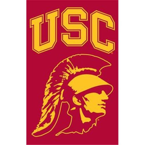 The Party Animal AFUSCT USC with Trojan Head 44x28 Applique Banner