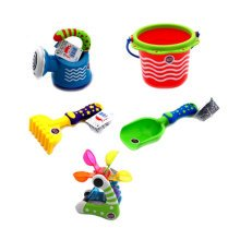 Summer Fun 5 Pieces Beach Sand Kid's Toy Beach Tool Playse (Colors May  Vary) B