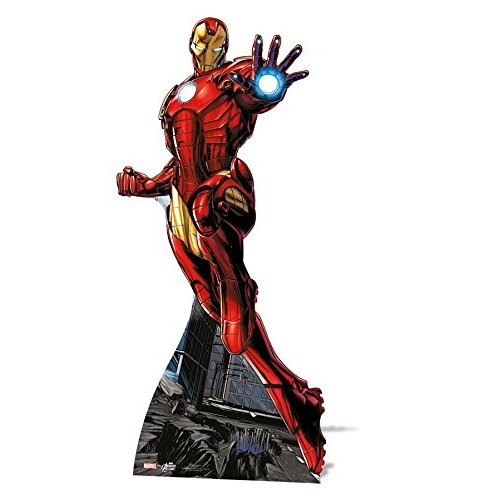 Star Cutouts Official Marvel Avengers Life Size Cutout of Iron Man 175cm Tall 80cm Wide