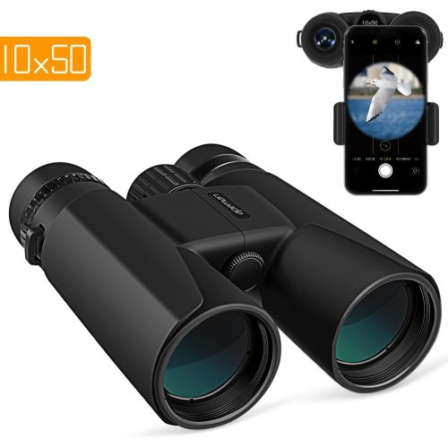 APEMAN 10X50 HD Binoculars for Adults with Low Light Night Vision,Compact Binoculars for Bird Watching,Hunting,Sports Events,Travelling,Adventure...