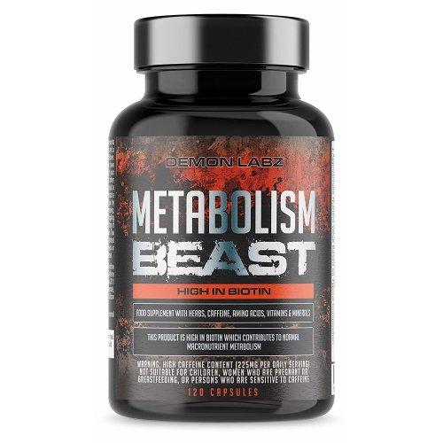 Metabolism Beast | Hardcore Fat Burner with Biotin - 60 Servings
