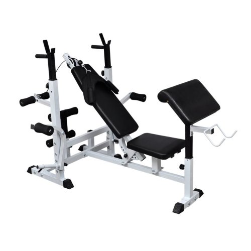 vidaXL Weight Multi Bench Universal Gym Exercise Training Fitness Station