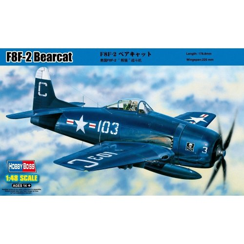 Hobbyboss 1:48 Scale F8F-2 Bearcat Assembly Kit