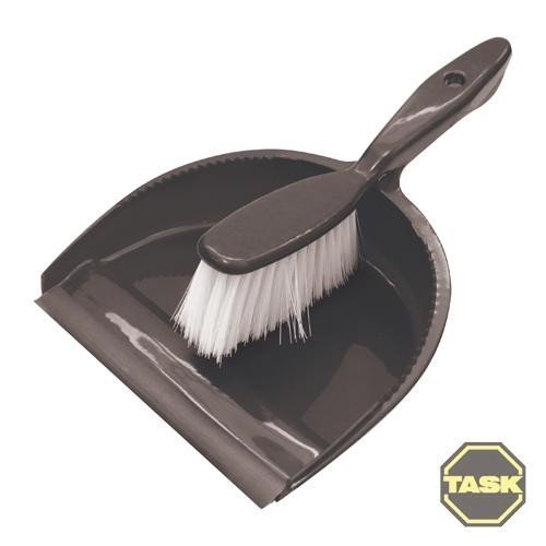Task Dustpan & Brush Set Display Box Pack Of 24 - 902240 Small Handy 175mm -  brush set task dustpan 902240 display box small handy 175mm cleaning