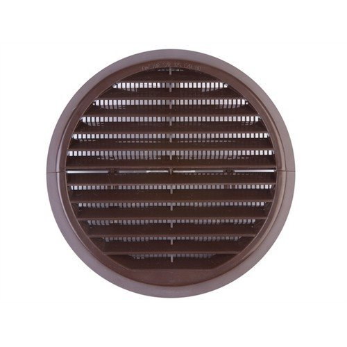 Xpelair 93133AB Wall Grille Brown Round 100mm