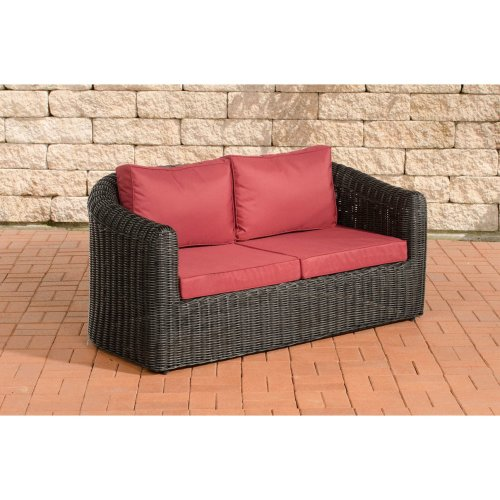 2 seater sofa Bergen ruby ??red 5mm