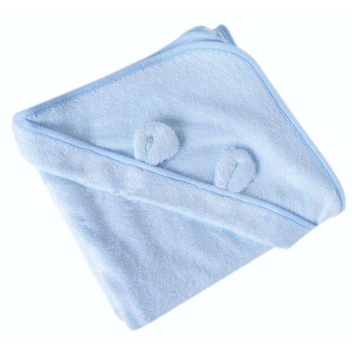 Blue Animal Ear Soft Baby Hooded Bath Towel (90*90CM)