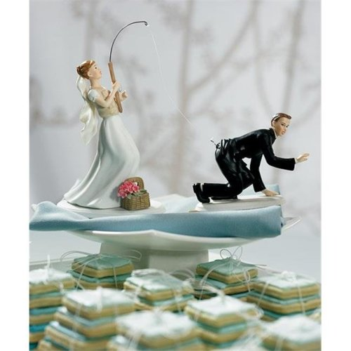 Weddingstar 7104  Caught  Groom Mix & Match Cake Topper- Non-Caucasian- Groom Only