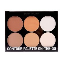 City Color Contour Effects On-The-Go 6 Shades Highlighter Bronzer Powder Palette