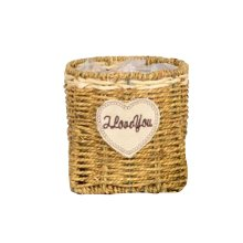 Fashion Straw Hand-woven Flower Basket Nice Home Decoration