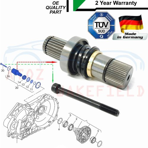 FOR TRANSPORTER T5 3.2 DRIVESHAFT CONNECTING SHAFT ADAPTOR STUB AXLE JOINT RIGHT
