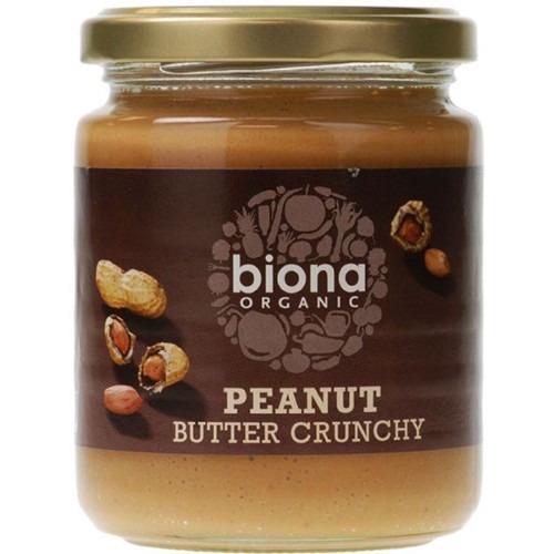 Biona Organic Peanut Butter Crunchy 250g - with Salt