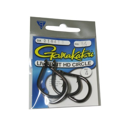 Gamakatsu Circle Bait Hook 3 Per Pack Black 10 0