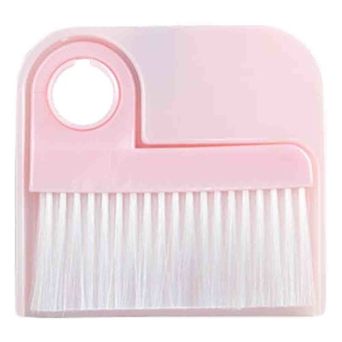2 PCS Dustpan Broom Suit Car Duster Brush Cleaning Brush(Pink)