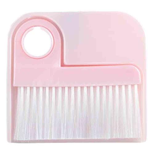 2 PCS Dustpan Broom Suit Car Duster Brush Cleaning Brush(Pink)