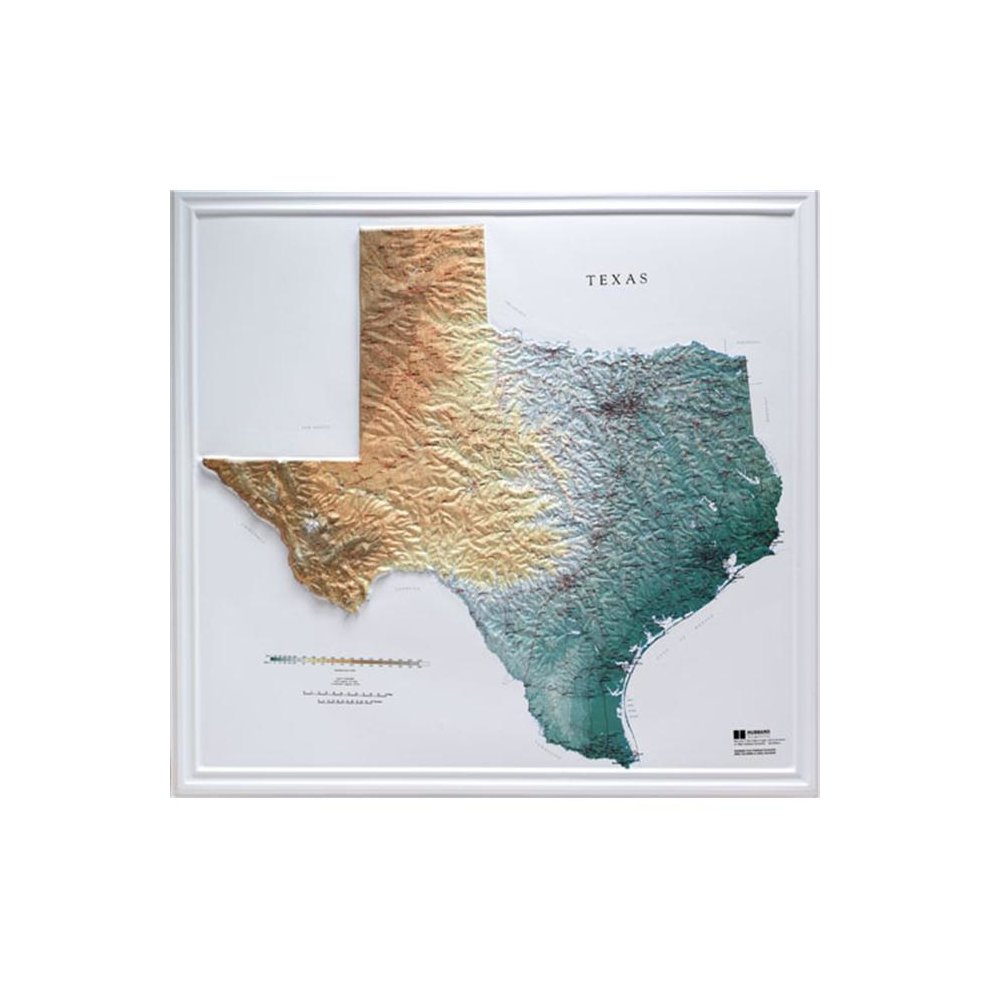 Relief Map Of Texas.Hubbard Scientific Raised Relief Map 954 Texas State Map On Onbuy