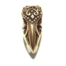 Bronze Raven Viking / Celtic Beard Bead Ring