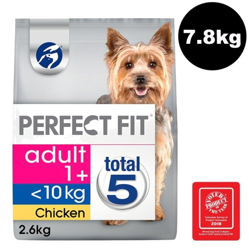 PERFECT FIT Dog <10kg Complete Dry Adult 1+ Rich in Chicken 3x2.6kg