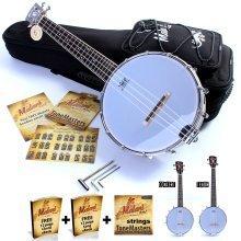 'Malani' Banjolele: Closed Back Solid Wood Banjo Ukulele/Uke