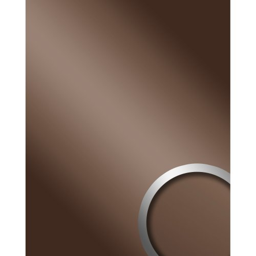 WallFace 10150 DECO BROWN Wall panel self-adhesive Mirror glossy brown 2.6 sqm