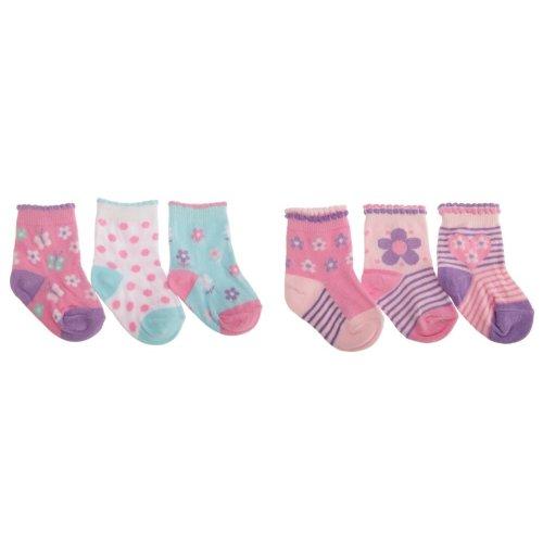 Baby Girls Assorted Heart/Butterfly Design Socks (Pack Of 3)