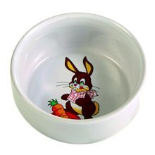 Trixie Ceramic Bowl With Motif For Rabbits, 250ml -ml 250 Rabbits 11cm -  bowl ceramic motif trixie ml 250 rabbits 11 cm