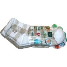 Aloe Moisture Socks by Earth Therapeutics 2 Pack Tan Plaid Infused with Natural Aloe Vera &amp Vitamin E
