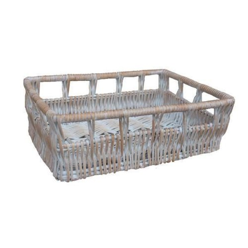 Small Full White Wash Willow Detailed Tray
