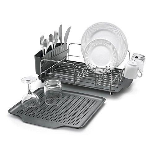 Polder 4-Piece Advantage Dish Rack System, Grey