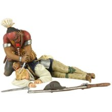 W. Britain Woodland Indian Scalping Colonial Militia Hand-to-Hand Set