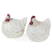 Boughton' Contemporary Terracotta Chicken Garden Ornament Set