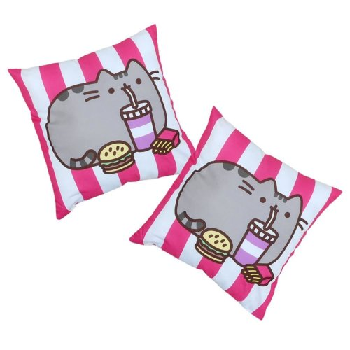 PUSHEEN Square FAST FOOD Pillow Cushion 40cm x 40cm