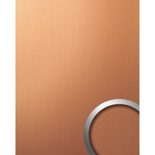 WallFace 12432 DECO Wall panel metallized plate copper brown brushed | 2.60 sqm