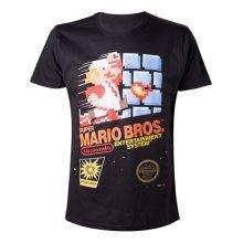 Nintendo Super Mario Bros. Adult Male Classic NES Games Case T-Shirt, Medium, Black (Model No. TS201472NTN-M)