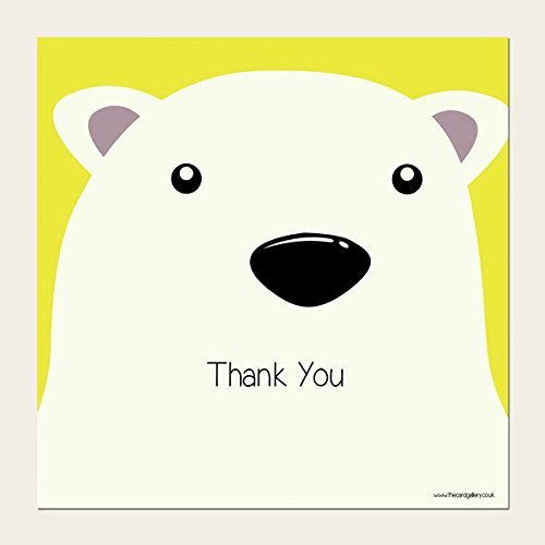 Kids Thank You Cards - Polar Bear - Pack of 10